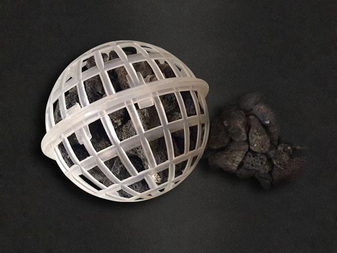 直径60mm火山岩流离球