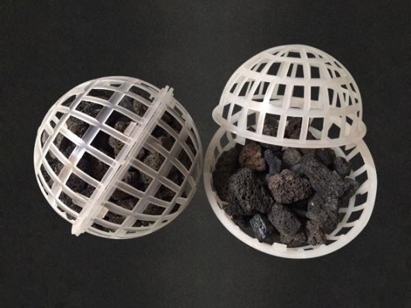 120mm火山岩流离球