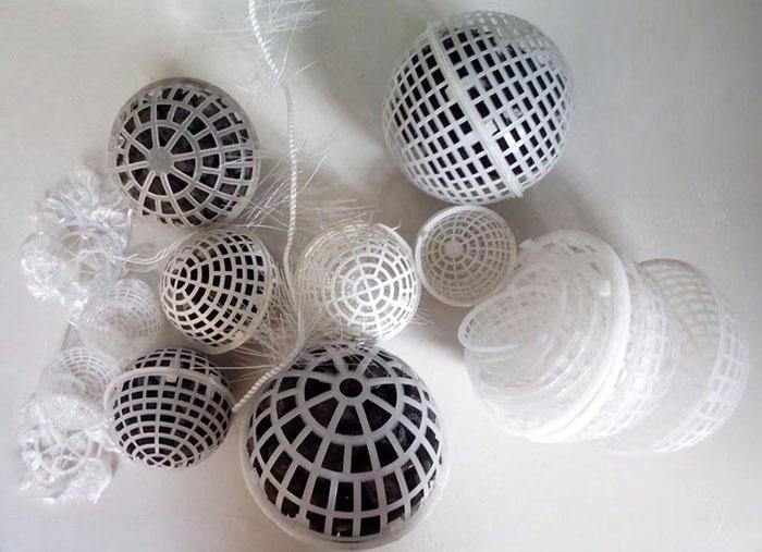 多孔悬浮球填料